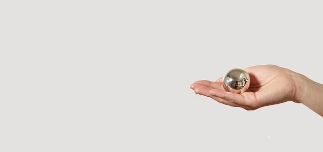 オルゴールボール/メルヘンクーゲル・クラシックタイプ/シルバー/φ40mm[オルゴールボールはメルヘンクーゲル]