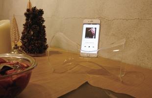 HOLME GAARD ホルムガード/iphone用スピーカー/URANIA ウラニア/クリア [ iphone用スピーカーはホルムガードのURANIA  ]