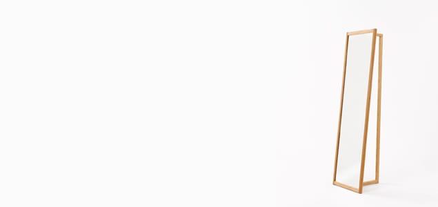 TEORI テオリ ポールハンガー AND MIRROR[ 北欧インテリアにもぴったりのTEORI 木製コートハンガー ]