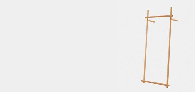 TEORI テオリ ポールハンガー BRIDGE[ 北欧インテリアにもぴったりのTEORI 木製コートハンガー ]