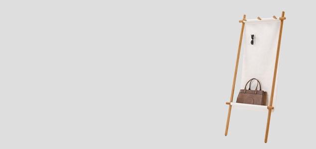 TEORI テオリ マルチラック CANVAS[ 北欧インテリアにもぴったりのTEORI 木製コートハンガー ]
