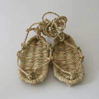 国産の稲わら細工わらじ/草鞋