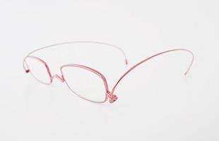 paperglass 老眼鏡 スクエア ベーシックレッド