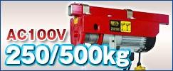 電動ウインチ(ホイスト)250/500kg
