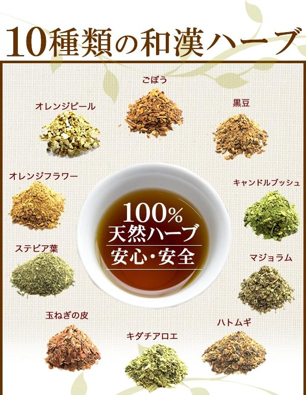10種類の和漢ハーブ