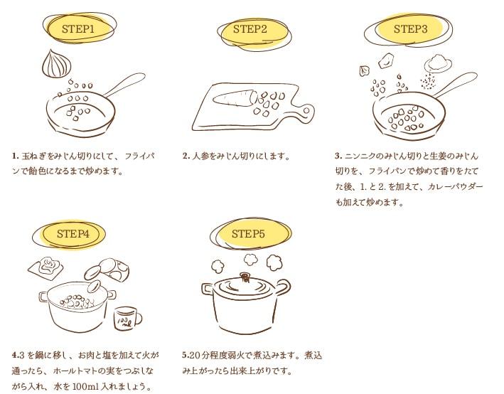 キーマカレーのレシピ