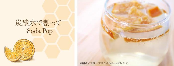 オレンジ炭酸水