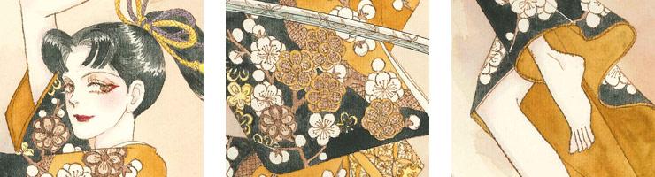 「桃花童子」オリジナルカラー原画 高品質複製プリント商品
