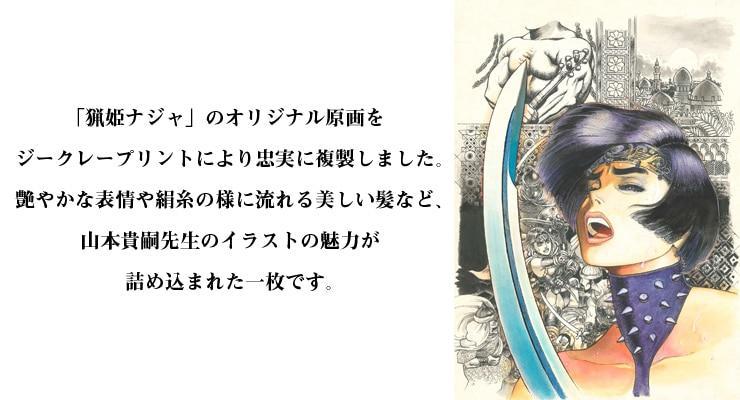 「猟姫ナジャ」/山本貴嗣 オリジナルカラー原画 高品質複製プリント商品