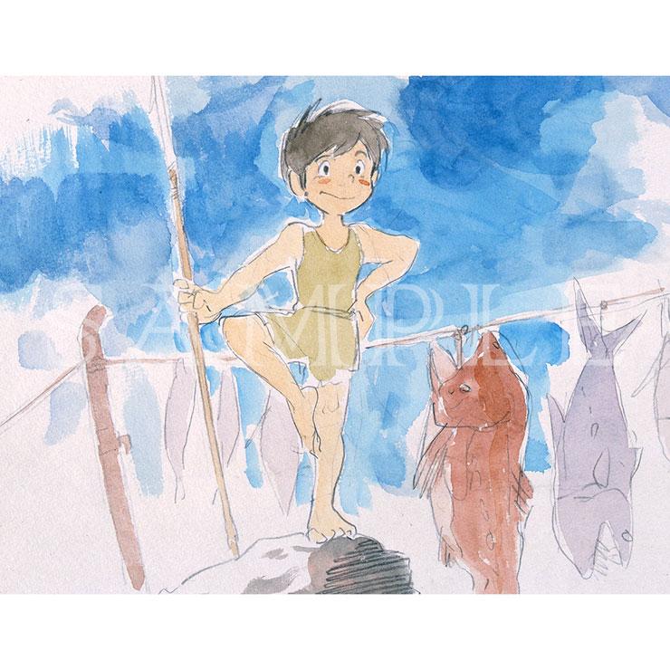 未来少年コナン P10キャラファインボード 『青空とコナン』