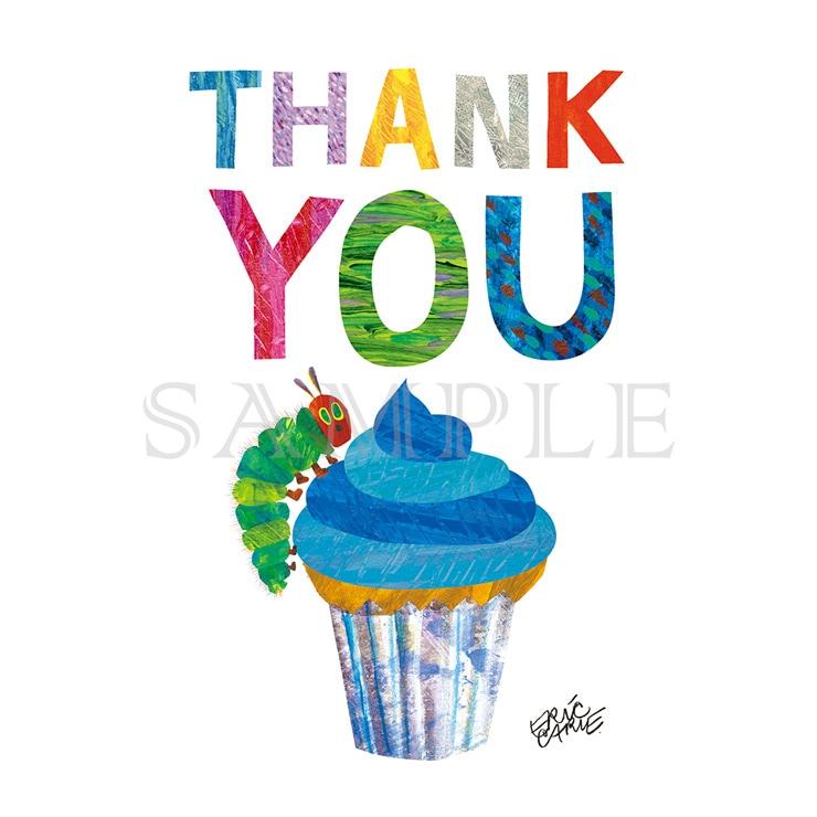 エリック・カール キャラファインミニ『Party cupcake blue カップケーキブルー』