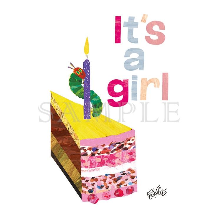 エリック・カール キャラファインミニ『Party cake girl パーティケーキ女の子』