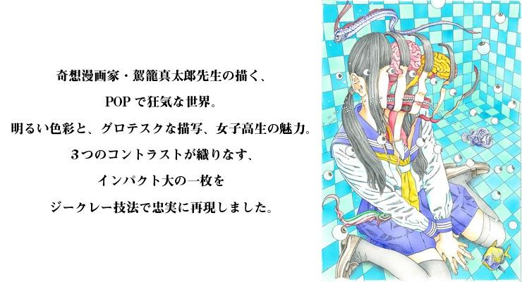 【数量限定】駕籠真太郎/浅草橋ギャラリー用描き下ろし原画1【直筆サイン付き】