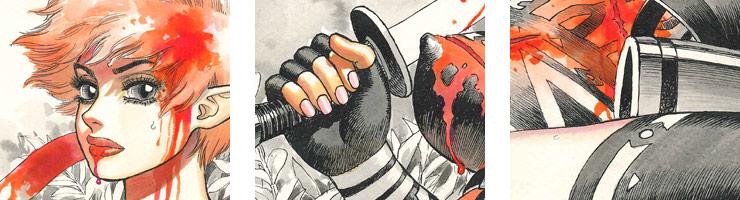「剣の国のアーニス」/山本貴嗣 オリジナルカラー原画� 高品質複製プリント商品