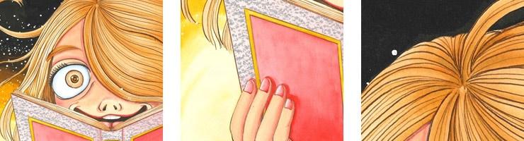 【数量限定】不思議のたたりちゃん 読書/犬木加奈子 オリジナルカラー原画 高品質複製プリント商品【直筆サイン付き】
