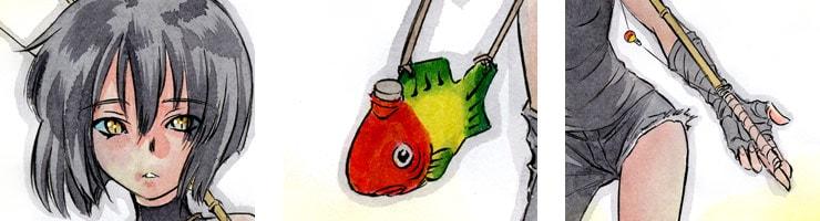 【数量限定】「ニードルアイ」Web Magazine KATANA 56号表紙用イラスト /村枝賢一 高品質複製プリント商品【直筆サイン付き】