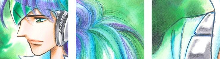 【数量限定】「DIMENSION GREEN」4巻表紙 佐々木淳子オリジナルカラー原画高品質複製プリント商品【直筆サイン付き】
