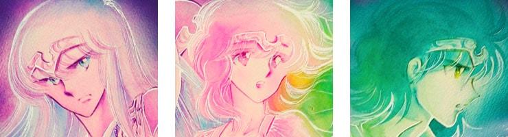 【数量限定】「那由他」 ポスター2 佐々木淳子オリジナルカラー原画高品質複製プリント商品【直筆サイン付き】