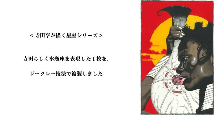 【数量限定】雑誌掲載イラスト「水瓶座」/寺田亨 高品質複製プリント商品【直筆サイン付き】