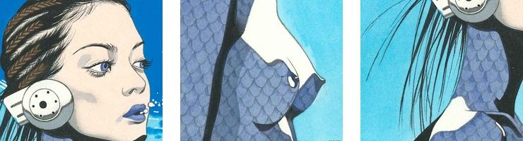 【数量限定】雑誌掲載イラスト「魚座」/寺田亨 高品質複製プリント商品【直筆サイン付き】