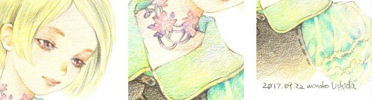 【限定1枚】「ショートヘアの少女」 /内田美奈子 原画イラストボード