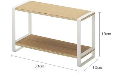 サイズ 33×12×19cm 耐荷重 各棚約2kg