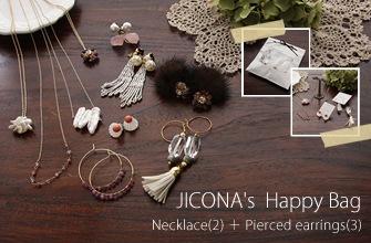 数量限定 ジコナ jicona アクセサリーハッピーバッグ 福袋 2017 ピアス×ネックレスセット