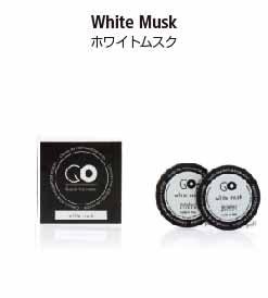カーエアーフレッシュナーシリーズのGO専用交換カプセル。ホワイトムスクの香り