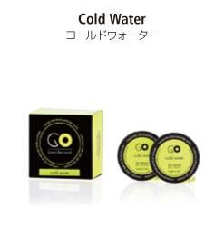 カーエアーフレッシュナーシリーズのGO専用交換カプセル。コールドウォーターの香り