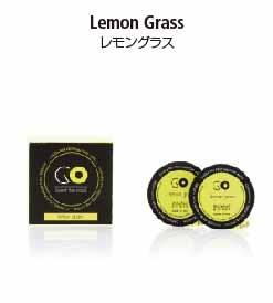 カーエアーフレッシュナーシリーズのGO専用交換カプセル。レモングラスの香り
