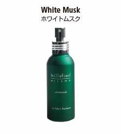 カーエアーフレッシュナーシリーズのフロアマットスプレー。ホワイトムスクの香り