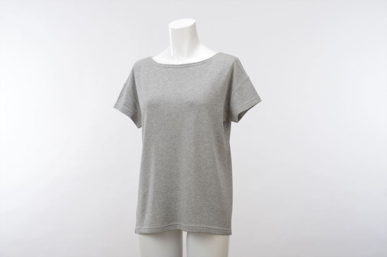 竹のひとつ星 半袖Tシャツ レディス グレー