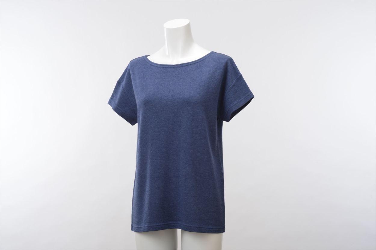 竹のひとつ星 半袖Tシャツ レディス ネイビー