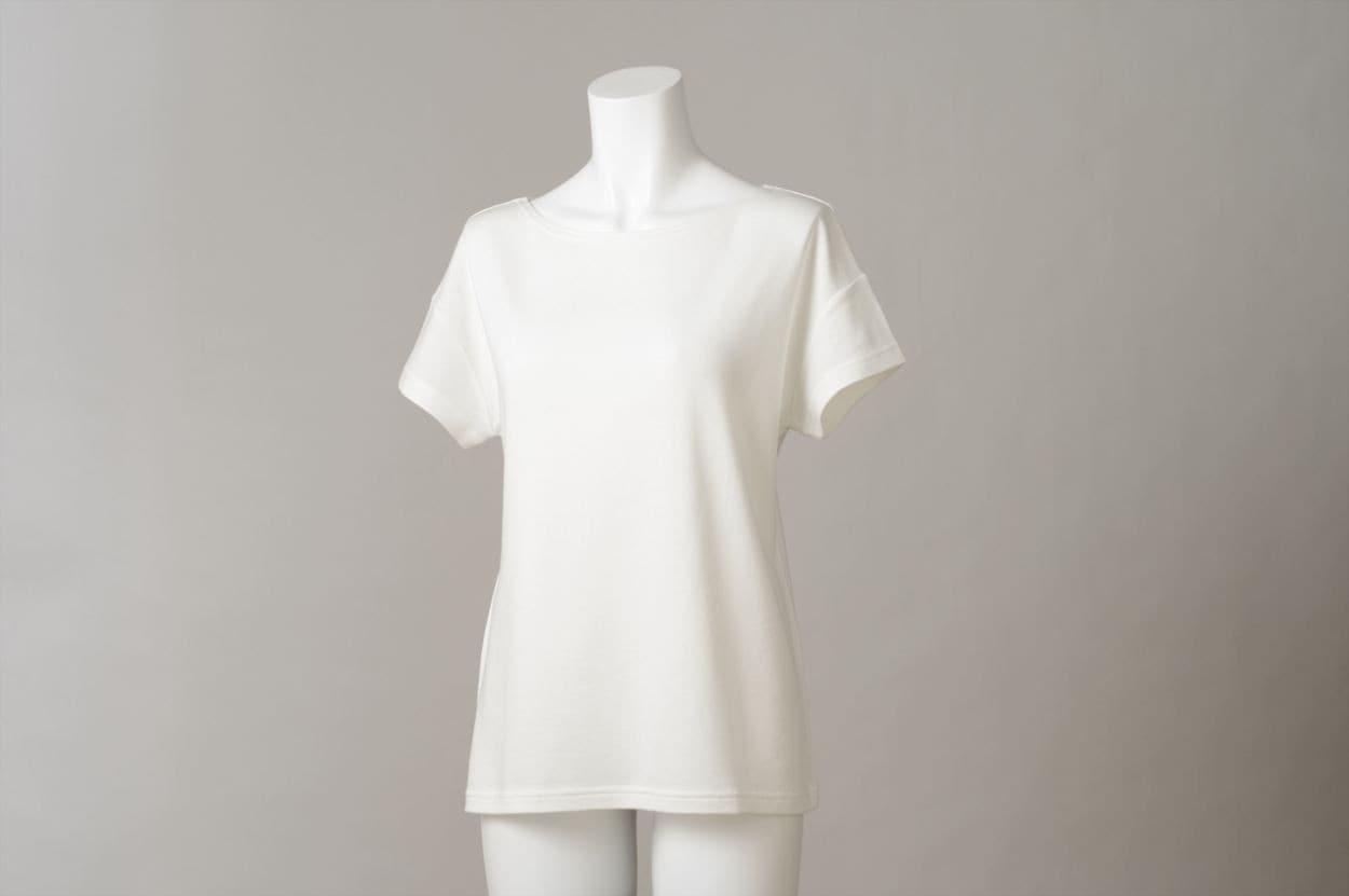 竹のひとつ星 半袖Tシャツ レディス オフホワイト