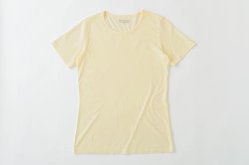 竹の半袖Tシャツ レディース クリーム