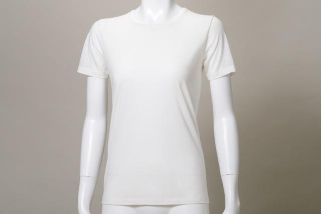 竹の半袖Tシャツ レディース ホワイト