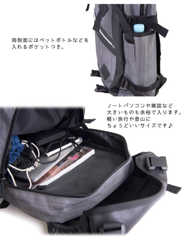 デイバッグ バックパックリュックサック メンズ 男性 カジュアル トラベル ハイキング ファスナー ポケット 大容量 20L LOGOS