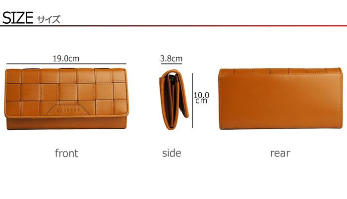 上品な艶のある天然メッシュレザーを使用したレディース長財布