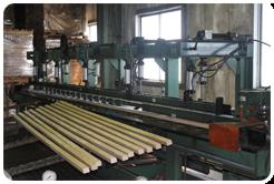 集成材工場工程1縦継ぎ