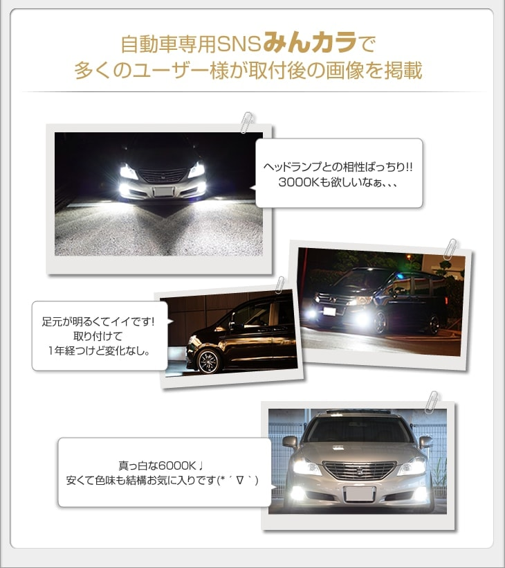 自動車専用ブログみんカラで多くのユーザー様が取付後の画像を掲載