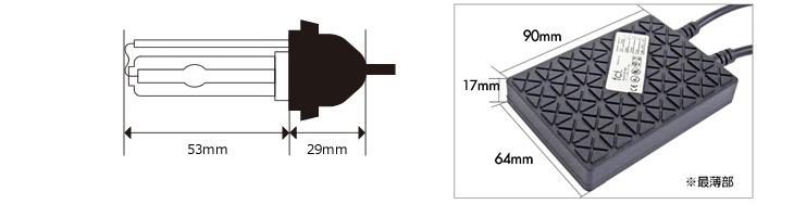 サイズ表fcl.HIDバルブ Hb3