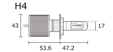 H4バルブ寸法