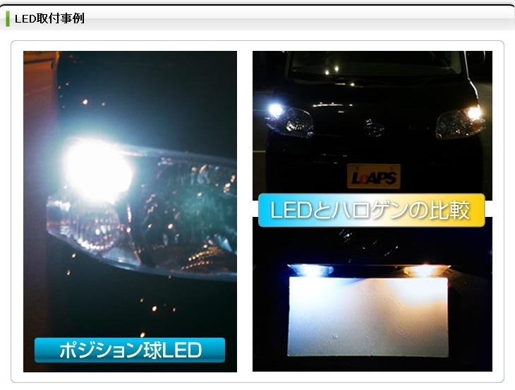 LEDとハロゲンの比較