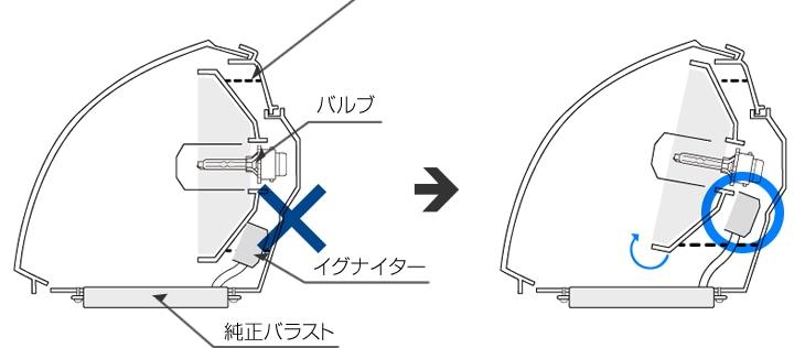 ヘッドライト断面図