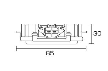 純正型55WバラストHIDパワーアップキット 商品サイズ