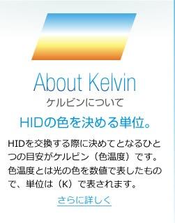 ケルビンについて|HIDの色を決める単位