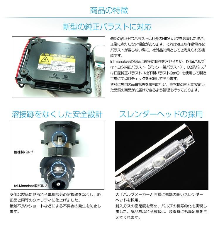 商品の特徴|新型の純正バラストに対応|溶接跡をなくした安全設計|スレンダーヘッドの採用