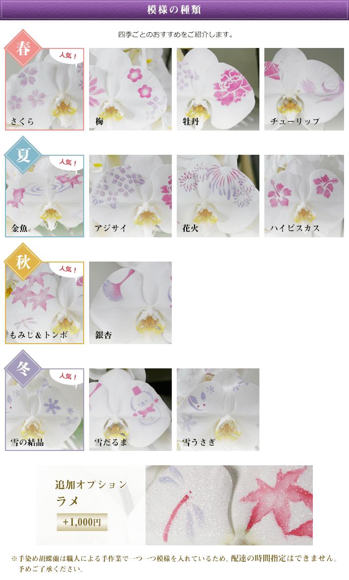 模様の種類 追加オプション ラメ +1,000円