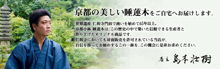 京都の美しい睡蓮木をご自宅へお届けします。