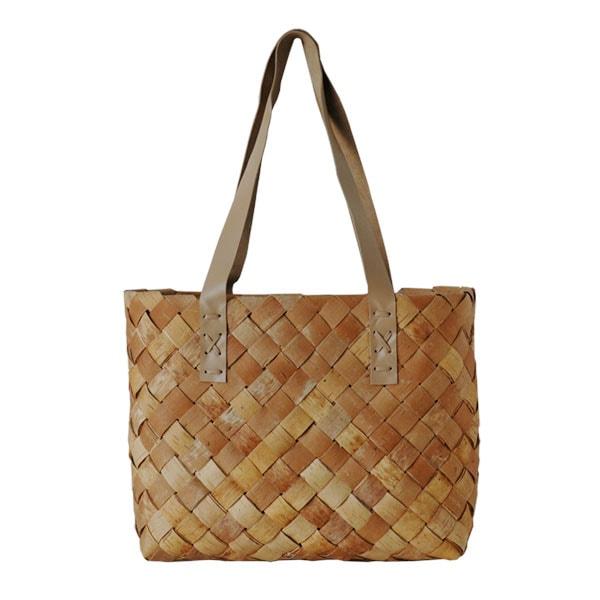 shoppingbag,ショッピングバッグ,トートバッグ,Lサイズ,tuohikori,トゥオヒコリ,白樺のカゴ,nadja shop,フィンランド,北欧雑貨